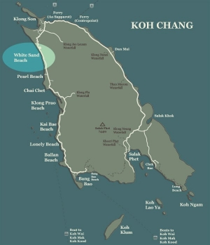 White Sand Beach Koh Chang Map