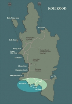 Koh Kood map-South West Beaches